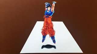 Drawing Goku Spirit Bomb 3D Illusion