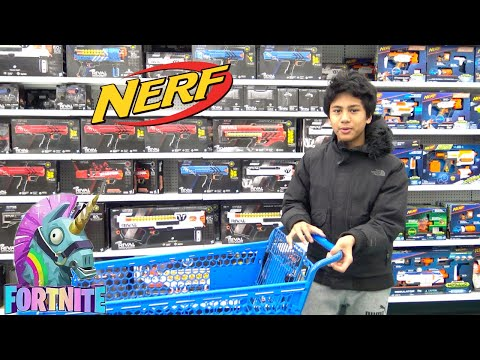 NEW TOYS 'R' US SHOPPING For NERF And FORTNITE AaronVision