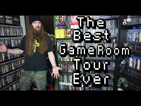 The Best Game Room Tour Ever - 2000+ Video Game Collection - AlphaOmegaSin
