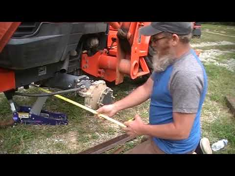 how to align the tractor front end.