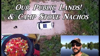 our public lands camp stove nachos vanlife on the road