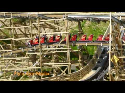 ::HD:: Lightning Rod roller coaster & Raw POV & behind the scenes at Dollywood theme park
