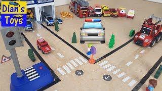 Police Cars vs Street Racer I  police car for kids I  police car for children I  police car videos