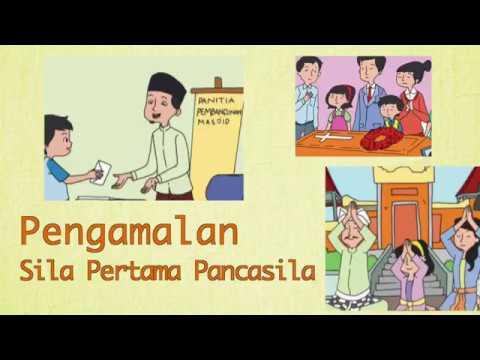 Kelas 02 Tema 5 Subtema 1 Pkn Pengamalan Sila Pertama Pancasila Video Pendidikan Indonesia Youtube