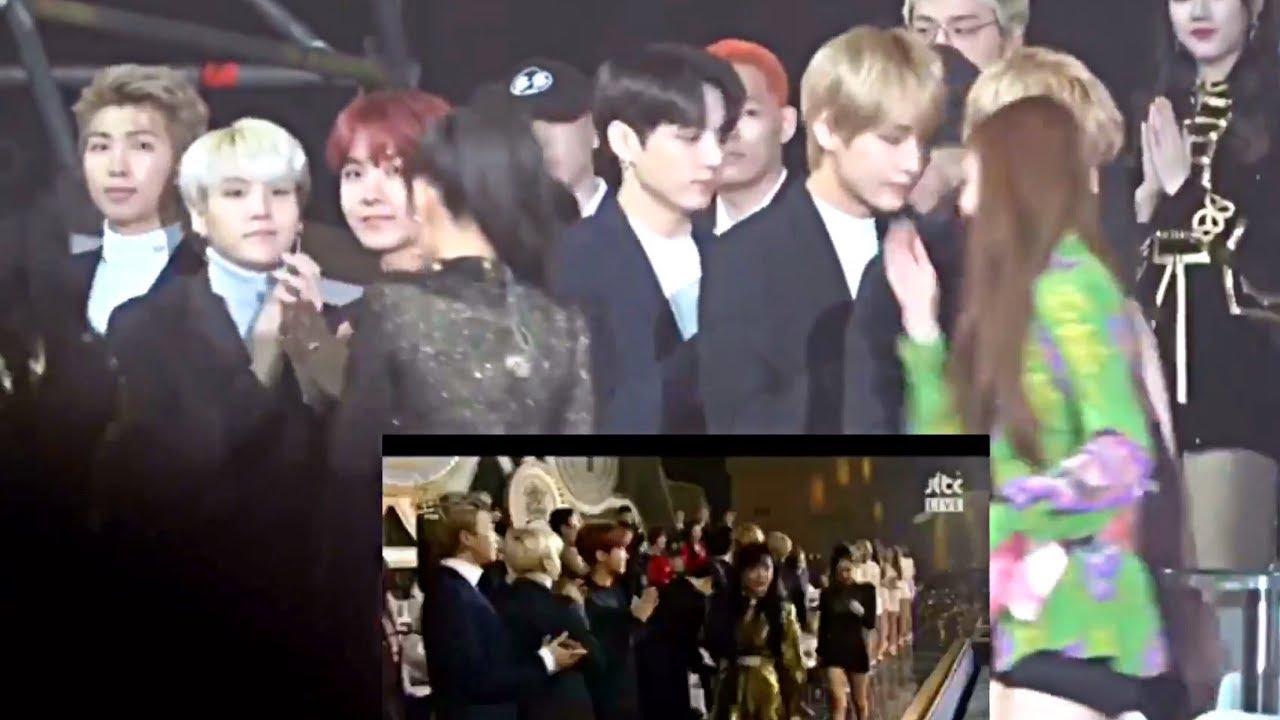 BTS reacting to BLACKPINK win speech gda 2018
