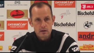 Pressekonferenz nach dem 13. Spieltag gegen den 1  FC Magdeburg