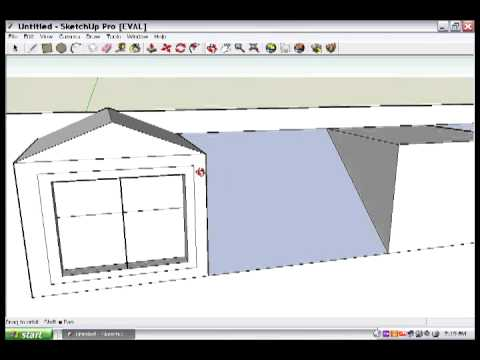 Google SketchUp Lesson 3: The dormer part 2