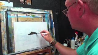 HOW TO PAINT RIPPLES WATER AND ROCKS ,Acrylic painting for beginners, #clive5art