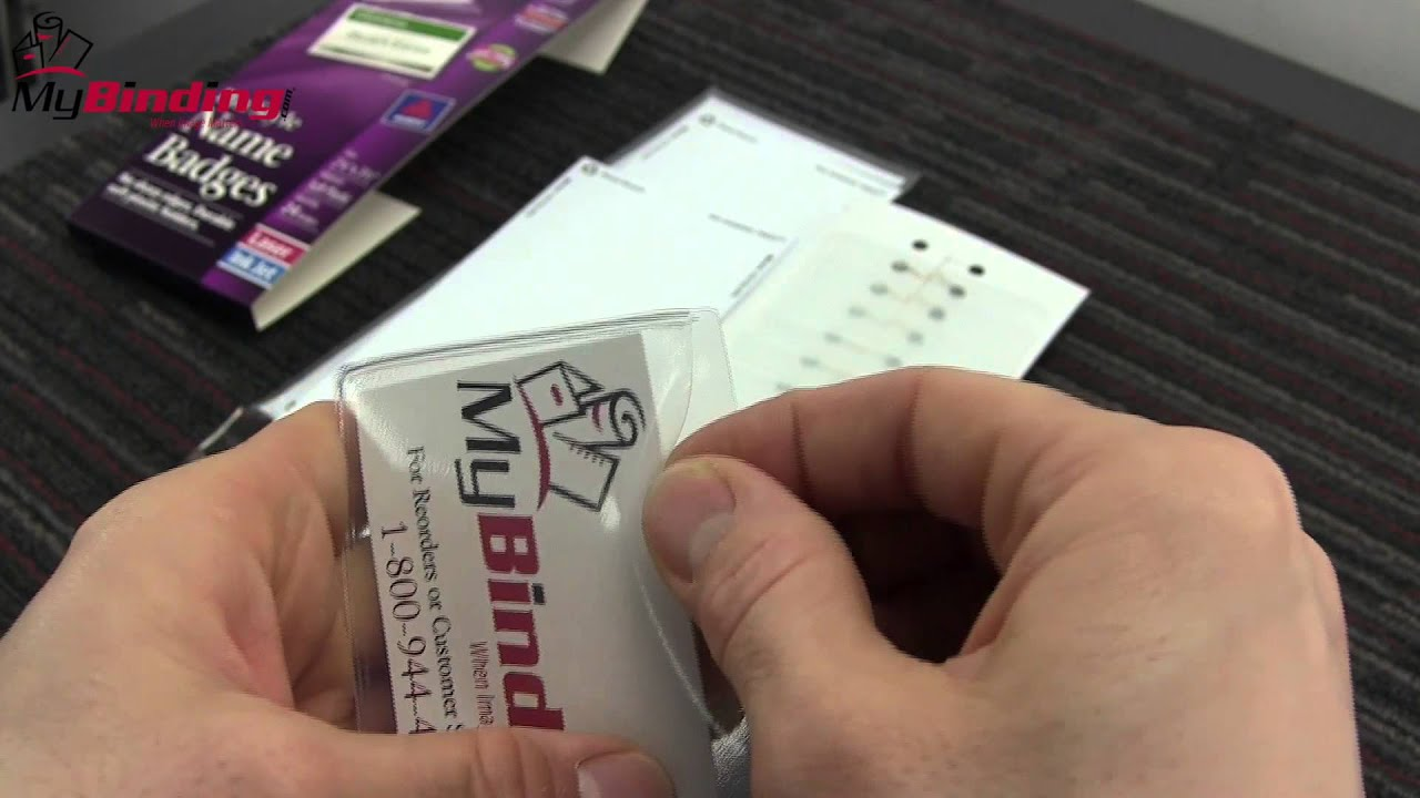 avery laser and inkjet pin name badges demo youtube