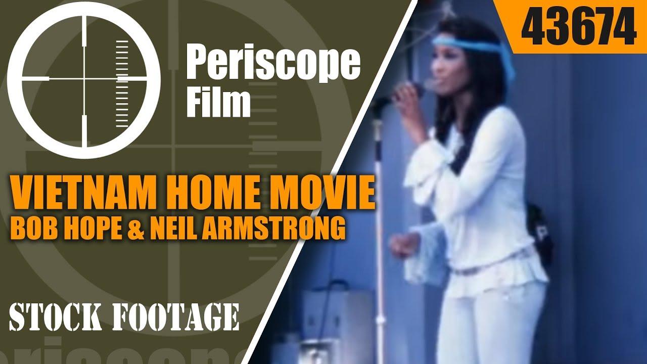 VIETNAM HOME MOVIE  BOB HOPE & NEIL ARMSTRONG at LONG BINH VIETNAM 43674