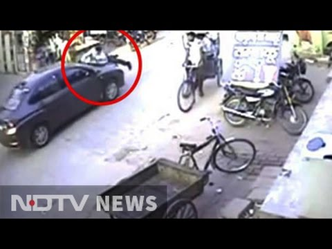 On camera, man dragged by driver after fight on Gurgaon road