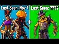 7 SKINS BECOMING RARE IN SEASON 8 FORTNITE! (u didn't know these skins are rare)