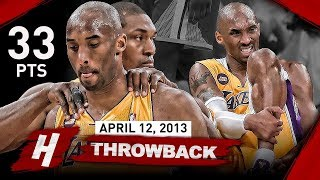 The Game that SHOCKED Laker Nation & Changed Kobe Bryant's Career FOREVER vs Warriors (2013.04.12)