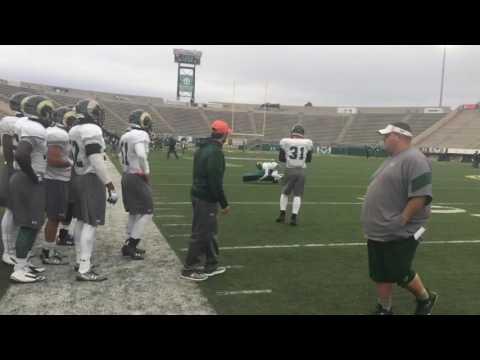 CSU coach Mike Bobo on facing.Boise State