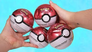 Opening 4 Surprise Pokemon TCG Mystery PokeBalls!