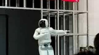 Honda's Robot Asimo on Moscow Auto Exhibition 2008