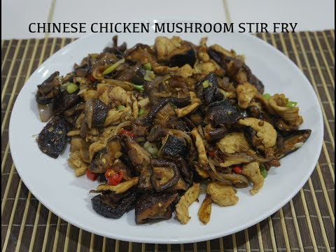 How to Cook Chinese Chicken & Mushroom Stir Fry Recipe