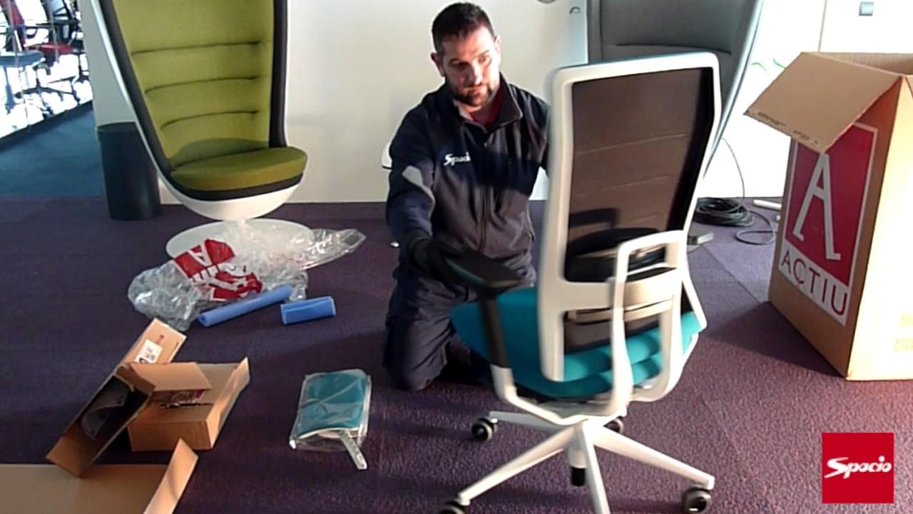 Montaje silla tnk flex sillas de oficina spacio youtube for Sillas oficina valladolid