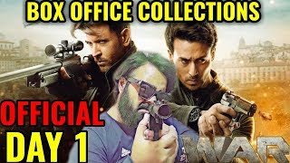 WAR BOX OFFICE COLLECTION DAY 1 | INDIA | OFFICIAL | HRITHIK ROSHAN | TIGER SHROFF | ALL TIME RECORD