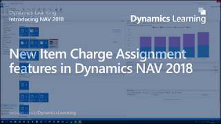 New Item Charge Assignment features in Dynamics NAV 2018