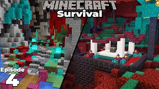 Starting my New Nether Base in Minecraft 1.16 Survival Let's Play! Ep 4