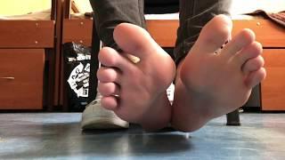 21yo boy feet in Adidas Superstar