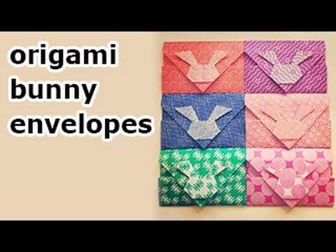 Origami Bunny Rabbit Envelopes - DIY - Paper Kawaii