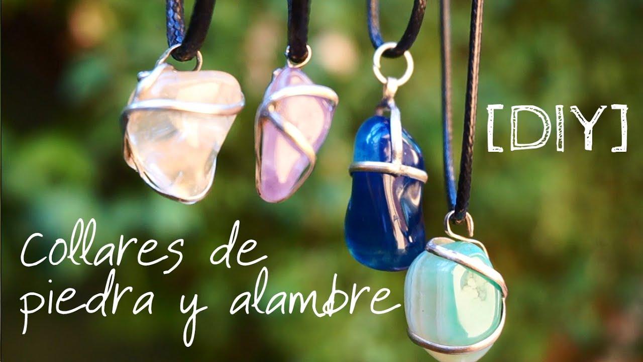 Diy collares de piedra y alambre 4 formas distintas for Como hacer color piedra