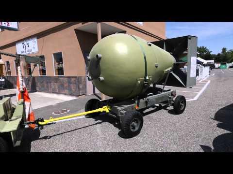 Fat Man atomic bomb replica