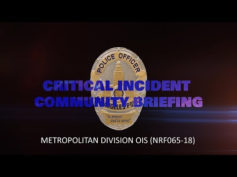 Critical Incident Video Release - NRF065-18