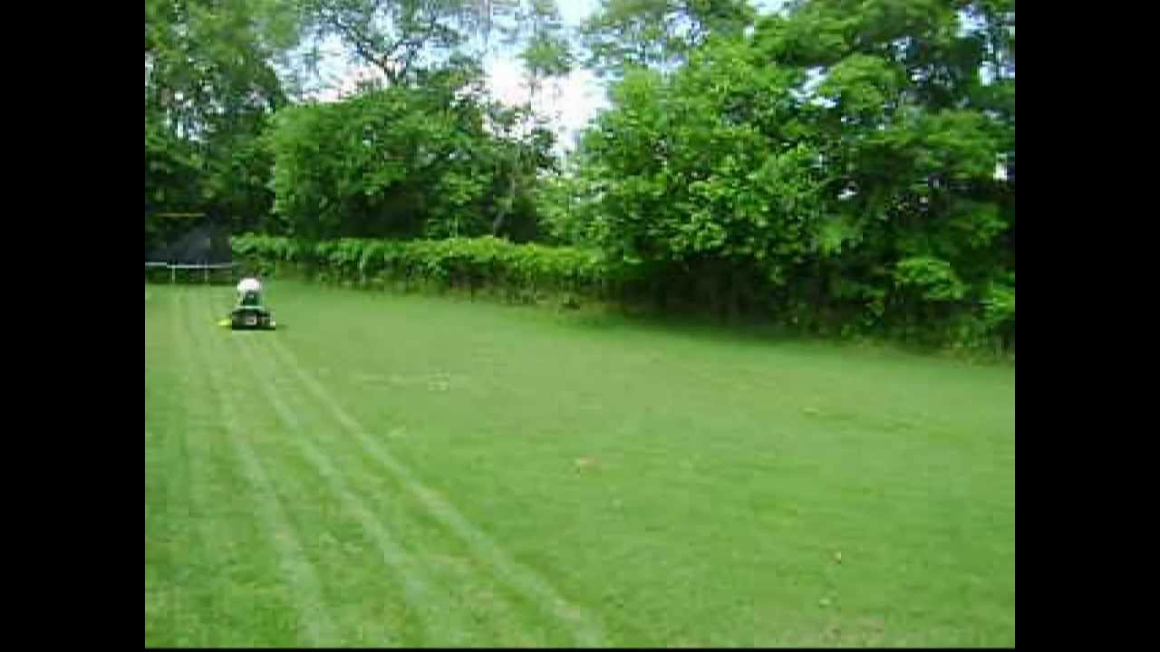 Mowing The Lawn With The John Deere La150