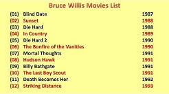 Bruce Willis Movies List