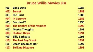 Top 20 Movies Popular Of Bruce Willis From Youtube ... Bruce Willis Movies List