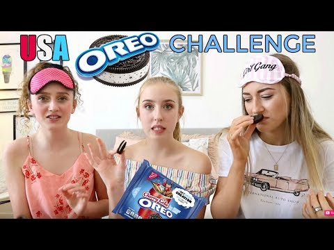 Australians Try Weird American Oreo Flavors! Oreo Challenge!