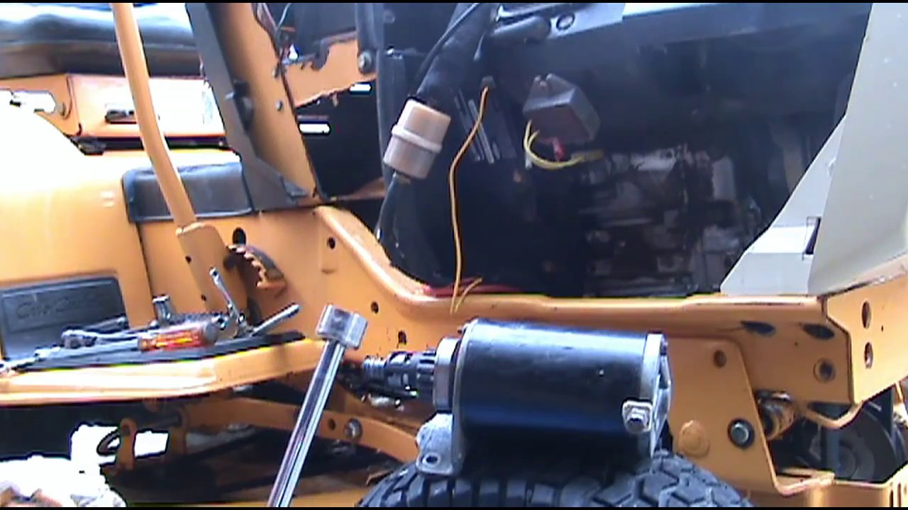1996 cub cadet starter removal and repair [ 1280 x 720 Pixel ]