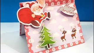 Recycled Christmas Card : How to Reuse Waste Cardboard Box to Make Christmas Greeting Card?