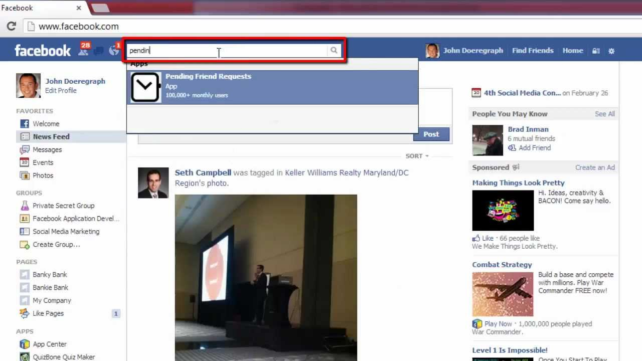 How To See Facebook Friend Request Sent Youtube