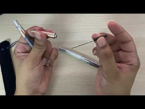How to replace refill on a swarovski pen.