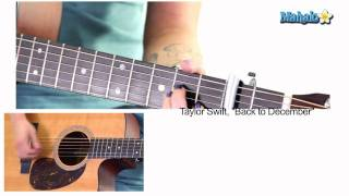 "How to Play ""Back To December"" by Taylor Swift on Guitar"