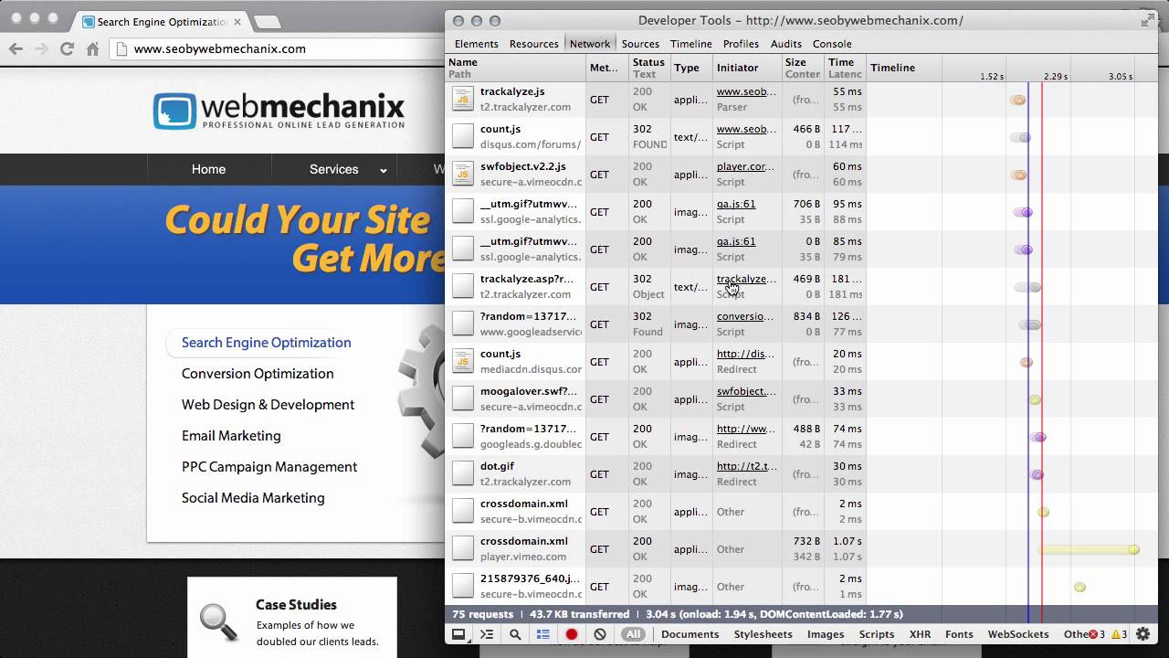 Use Google Chrome to Check for 301 Redirect