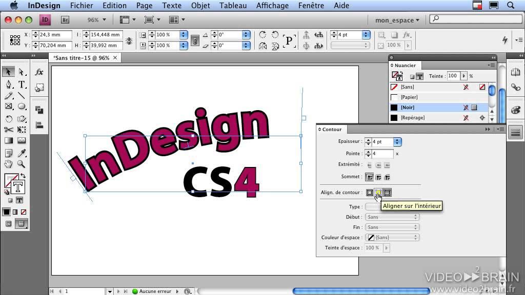 Adobe Indesign Le Contour De Texte
