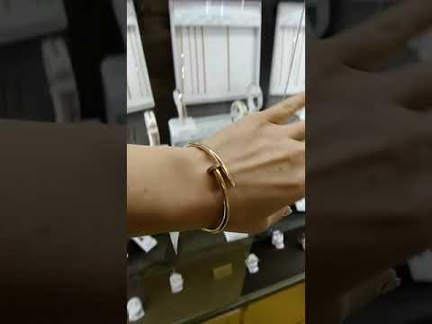 Золотой браслет гвоздь