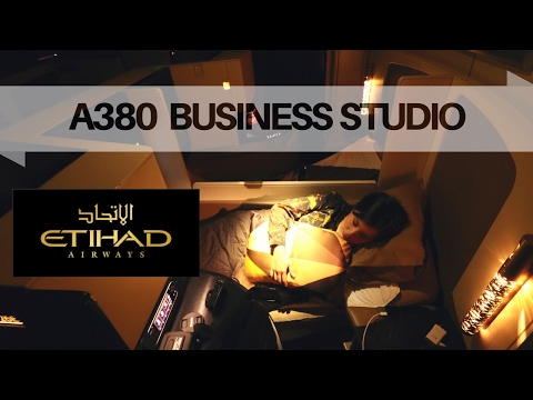 ETIHAD Airways Business Class A380 Sydney to Abu Dhabi (the new Business Studio)