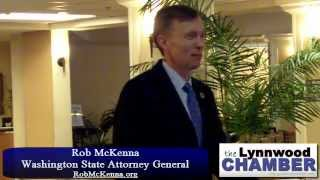 The Lynnwood Chamber Presents Rob McKenna, Washington Attorney General (Part 1)