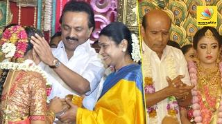 Actor and MLA Vaagai Chandrasekar daughter wedding celebration