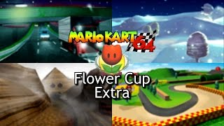 Mario Kart 64 - Flower Cup Extra / Mirror Mode (2 players, 1080p widescreen)