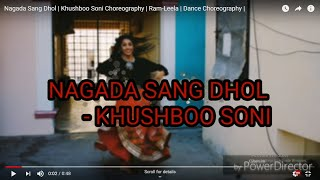 Nagada Sang Dhol   Khushboo Soni Choreography    Ram-Leela   Dance Choreography  