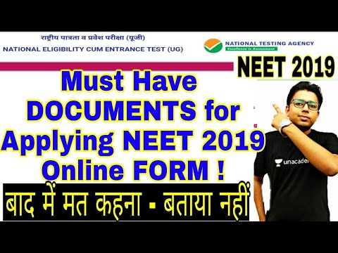 🔥Documents required For NEET 2019 APPLICATION Form Online, Latest Neet News