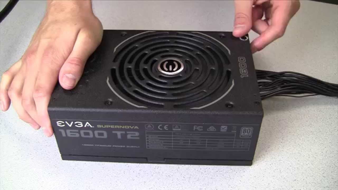 How To Evga Power Supply Installation Youtube Pc Cord Wiring Diagram
