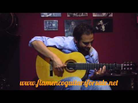 Diego del Morao plays the Francisco Barba 1979 flamenco guitar for sale